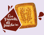 Classic frollini biscuits for breakfast granulated sugar
