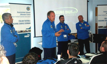 Australia course, Renzo Ulivieri president of the AIAC executing Coaching Master Lessons of football soccer school, Italian football soccer school to the world thanks to WBN and AIAC - the Italian football soccer association of coaches - the Italian football soccer school offers to the international players and teams the World Champions technical and tactical training to the USA soccer teams, Canada soccer players, UAE soccer league, Saudi Arabia teams, Australia teams and soccer players. We offer also customized training for soccer lovers as begineers camps, young soccer camps, girls football soccer training and professional Italian soccer Coaches for your team, our Italian soccer school offers the most prestige and winner Football Soccer coach camps and training in the world ready to coach in your country and become a Champion in your league
